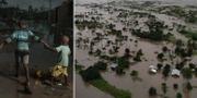 Hela byar i Moçambique har täckts av vatten. TT