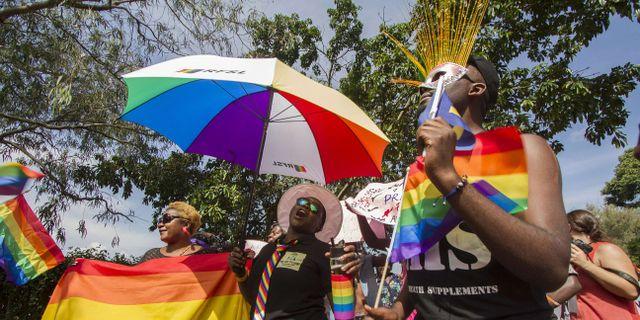 Prideparad i Uganda 2015. ISAAC KASAMANI / AFP