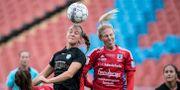 Arkivbild: Göteborgs Julia Zigiotti och Vittsjös Sandra Adolfsson i nickduell Björn Larsson Rosvall/TT / TT NYHETSBYRÅN