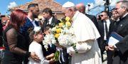 Påven på plats i Rumänien idag. POOL / TT NYHETSBYRÅN