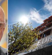 Hans Dahlgren och Europahuset, som är Europaparlamentets informationskontor och EU-kommissionens representation i Sverige. TT