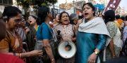 Protester tidigare i år mot den rättsliga hanteringen av en uppmärksammad våldtäkt i Indien. Bikas Das / TT / NTB Scanpix