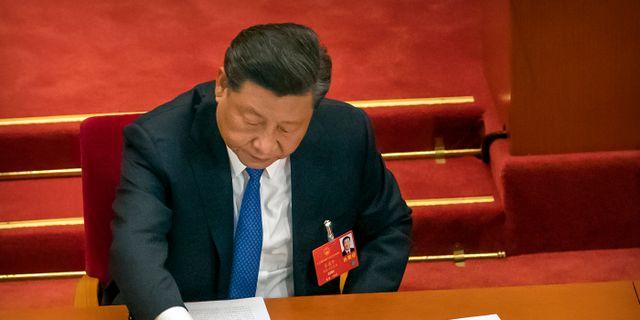 Kinas ledare Xi Jinping. Mark Schiefelbein / TT NYHETSBYRÅN
