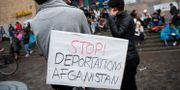 Bild från demonstration mot utvisningar till Afghanistan.  Henrik Montgomery/TT / TT NYHETSBYRÅN