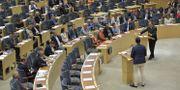 Partiledardebatten i riksdagen i juni 2018. Jessica Gow/TT / TT NYHETSBYRÅN