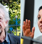 Peter Handke och Olga Tokarczuk. TT