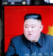Kim Jong-Un.  Ahn Young-joon / TT NYHETSBYRÅN