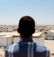 Flyktinglägret Zaatar i Jordanien där många syrier är fast. Henrik Montgomery/TT / TT NYHETSBYRÅN