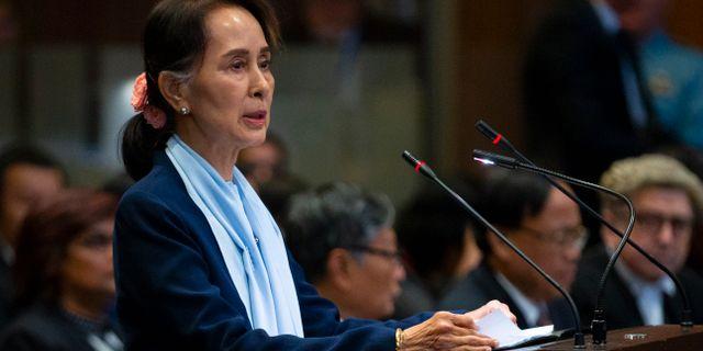 Aung San Suu Kyi Peter Dejong / TT NYHETSBYRÅN