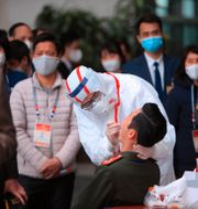 Arkivbild. Coronatester utförs i Hanoi i Vietnam.  Hau Dinh / TT NYHETSBYRÅN