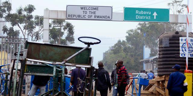 Gränsen mellan Kongo-Kinshasa och Rwanda. Stringer / TT NYHETSBYRÅN/ NTB Scanpix