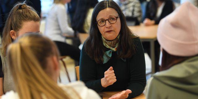 Gymnasieminister Anna Ekström.  Henrik Montgomery/TT / TT NYHETSBYRÅN