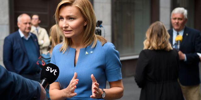 KD-ledaren Ebba Busch.  Henrik Montgomery/TT / TT NYHETSBYRÅN