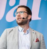 Arkivbild från Åkessons tal i Järva 2018. Fredrik Persson/TT / TT NYHETSBYRÅN