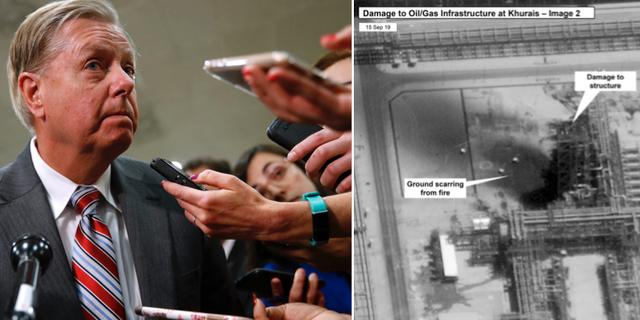 Lindsey Graham/bild från attackerna TT