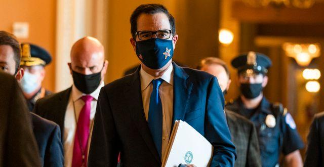 USA:s finansminister Steven Mnuchin. Arkivbild. Manuel Balce Ceneta / TT NYHETSBYRÅN
