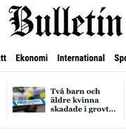 Bulletins hemsida/ Illustrationsbild.  Bulletin