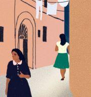 Illustrations av Agnes Florin/Romanens omslag. Norstedts.