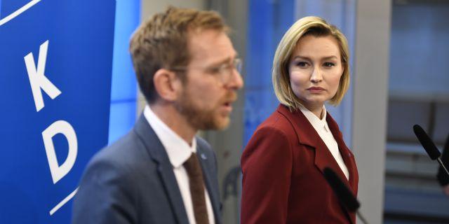Jakob Forssmed och Ebba Busch Thor. Pontus Lundahl/TT / TT NYHETSBYRÅN