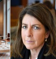 Bettina Kashefi, chefsekonompå Svenskt näringsliv, är bekymrad efter beskeden från morgonens pressträff. TT