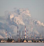 Gazprom Nefts oljeraffinaderi i ryska Omsk.  Alexey Malgavko / TT NYHETSBYRÅN