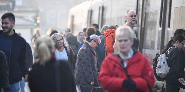 Tågtrafiken mellan Lund och Helsingborg står stilla sedan onsdagsmorgonen efter ett spårfel. Johan Nilsson/TT / TT NYHETSBYRÅN