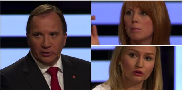 Stefan Löfven (S), Ebba Busch Thor (KD) och Annie Lööf (C). TT