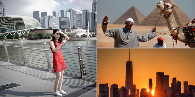 Flera turistmål i världen. TT