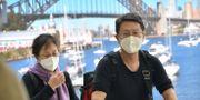 Passagerare från Wuhan. PETER PARKS / AFP