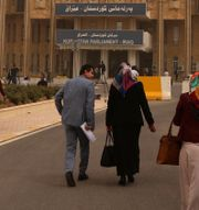 Parlamentsbyggnaden i Arbil. Arkivbild. SAFIN HAMED / AFP