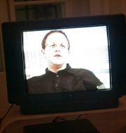 Helge Fossmo intervjuas på TV4. Arkivbild från 2004.  HENRIK MONTGOMERY