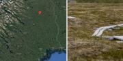 29-åringen hittades nedgrävd i en myr i Parakka. Montage. Google Maps/TT.