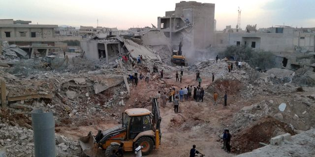 Idlib i Syrien. TT / NTB Scanpix