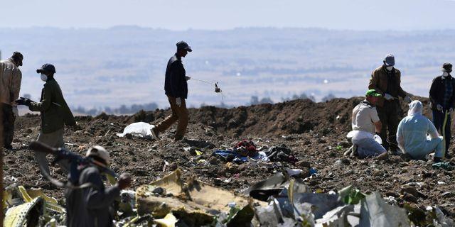 Olycksplatsen.  TONY KARUMBA / AFP