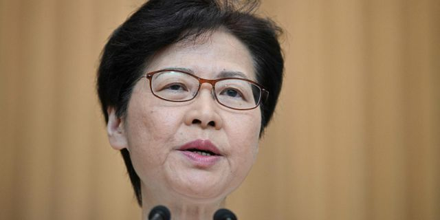 Carrie Lam  ANTHONY WALLACE / AFP