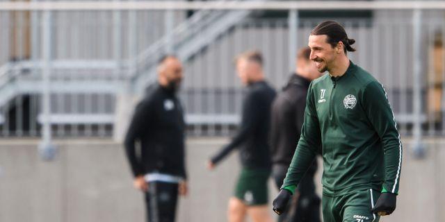 Zlatan Ibrahimovic när han var i Stockholm och tränade med Hammarby i april. MAXIM THORE / BILDBYRÅN