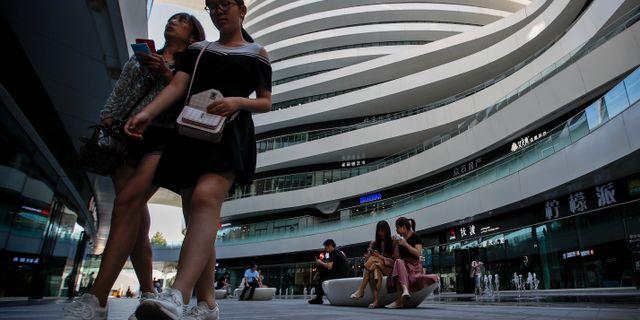 Pekingbor i shoppingcentrum. Arkivbild. Andy Wong / TT NYHETSBYRÅN