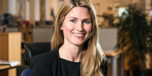 Susanna Berlin, ansvarig för investerarrelationer Scania.  Scania
