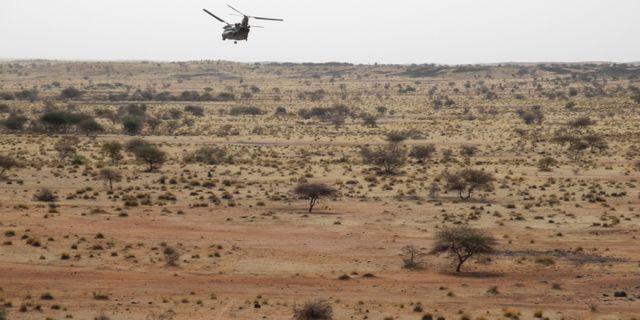 Arkivbild. Brittiska flygvapnet flyger i Liptako.  DAPHNE BENOIT / AFP