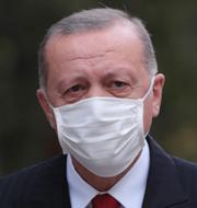 Erdogan, Harris och Biden.  TT