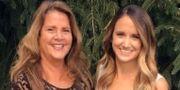 Tina Frost till höger. Familjen publicerade fotot på en sida för insamling till 27-åringens vård. GoFundMe