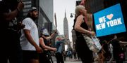 Protester i New York.  John Minchillo / TT NYHETSBYRÅN