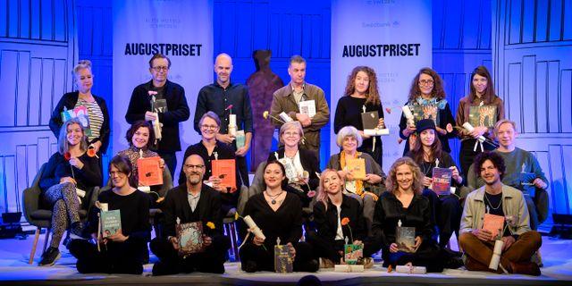 De Augustprisnominerade författarna. Anders Wiklund/TT / TT NYHETSBYRÅN