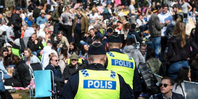 Bild från förra årets firande i Stadsparken.  Johan Nilsson/TT / TT NYHETSBYRÅN
