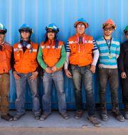 Gruvarbetare vid Chuquicamata-gruvan i Chile.  Jorge Saenz / TT NYHETSBYRÅN