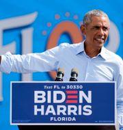 Barack Obama under sitt tal igår. John Raoux / TT NYHETSBYRÅN