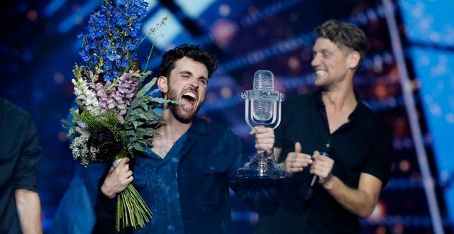 Nederländernas Duncan Laurence vann förra året. Sebastian Scheiner / TT NYHETSBYRÅN