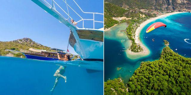 Öludeniz är en av Turkiets vackraste stränder. Go Turkey Tourism / Thinkstock
