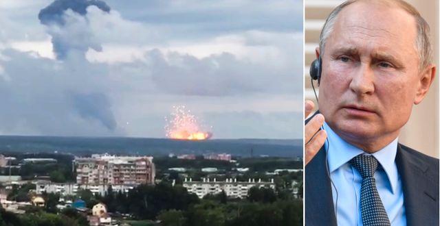 Explosionen vid Archangelsk/Vladimir Putin. TT