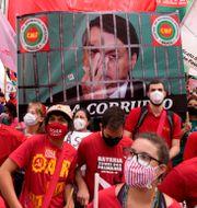 Demonstration mot Bolsonaro. Andre Penner / TT NYHETSBYRÅN